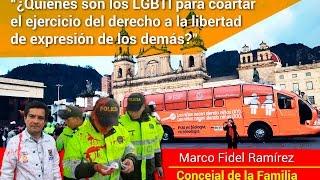 Concejal Ramírez se pronuncia frente a agresiones LGBTI al 'Bus de la Libertad' en Colombia