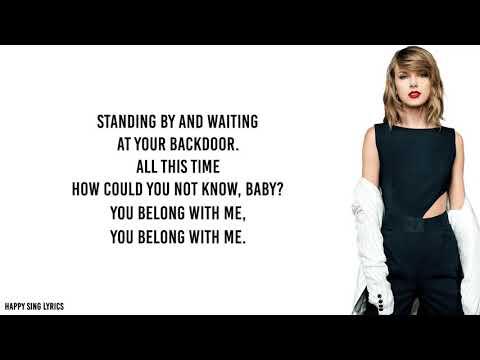 YOU BELONG WITH ME - TAYLOR SWIFT (Lyrics)