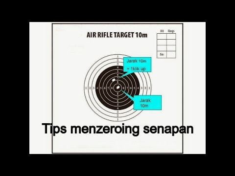 Video Tips sederhana zeroing telescope senapan anda