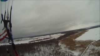 preview picture of video 'Winter Masuria Paramotor Pisz Cup 2013 .Plaża Miejska oraz Jezioro Roś zimą w Piszu'