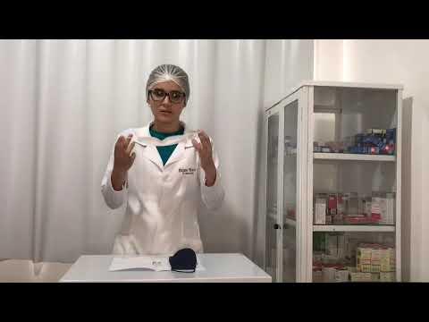 Enfermeira Daiane Meneses ensina como utilizar a máscara de tecido e os cuidados que devem ser tomad