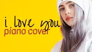 I Love You 🎤   Billie Eilish   Karaoke   Instrumental   Piano (Sing Along)