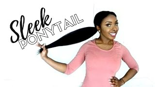Sleek Ponytail On Natural Hair With Clip Ins   Better Length