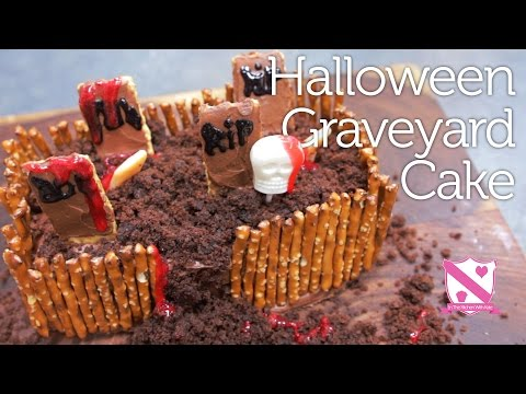 Halloween Graveyard Cake – In The Kitchen With Kate