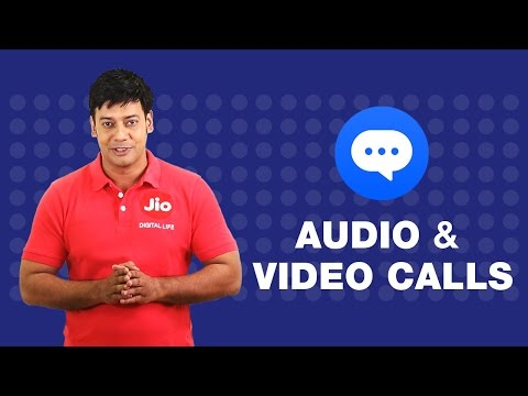 How to do video and audio call from JioChat?