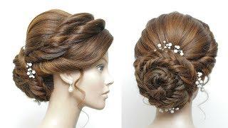 Bridal Bun Hairstyle For Long Hair. Updo Tutorial