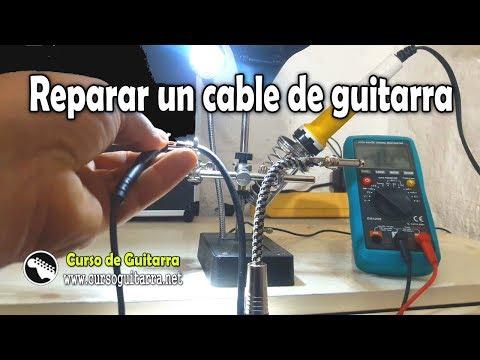 Como reparar un cable de guitarra e instrumentos