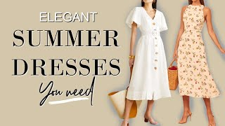 Elegant SUMMER Dresses That Take You From Day To Night |fashion Over 40