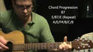 How to play  Wasted Days & Wasted Nights by Freddy Fender on acoustic guitar (Made Easy)