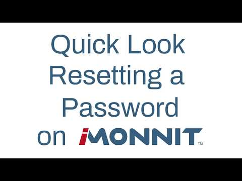 how to reset a password in iMonnit