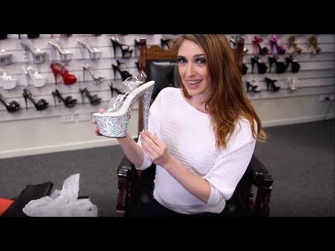 Review Pleaser Sky 308 LG Silver Glitter 7 Inch High Heels