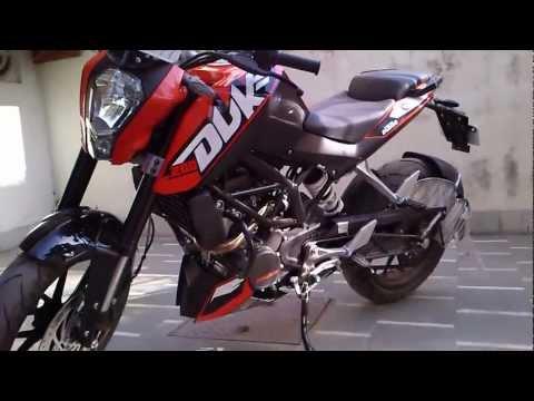 KTM Duke 200 india, Engine sound, start up and 360view