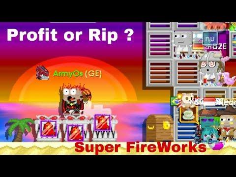 Growtopia Using 3 Super Fireworks profit?