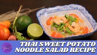 HOW TO MAKE THAI SWEET POTATO NOODLE SALAD ✨ EAT WELL #40