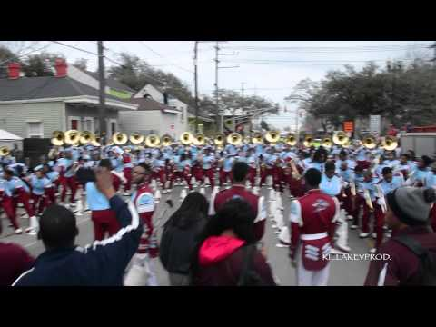 Talladega College Marching Band - Handsome And Wealthy @ 2015 Orpheus Parade