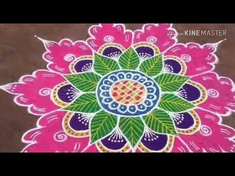 rangoli design for festivals by delta rangoli