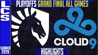 TL vs C9 Highlights ALL GAMES | LCS Summer 2019 Playoffs Grand Final | Team Liquid vs Cloud9