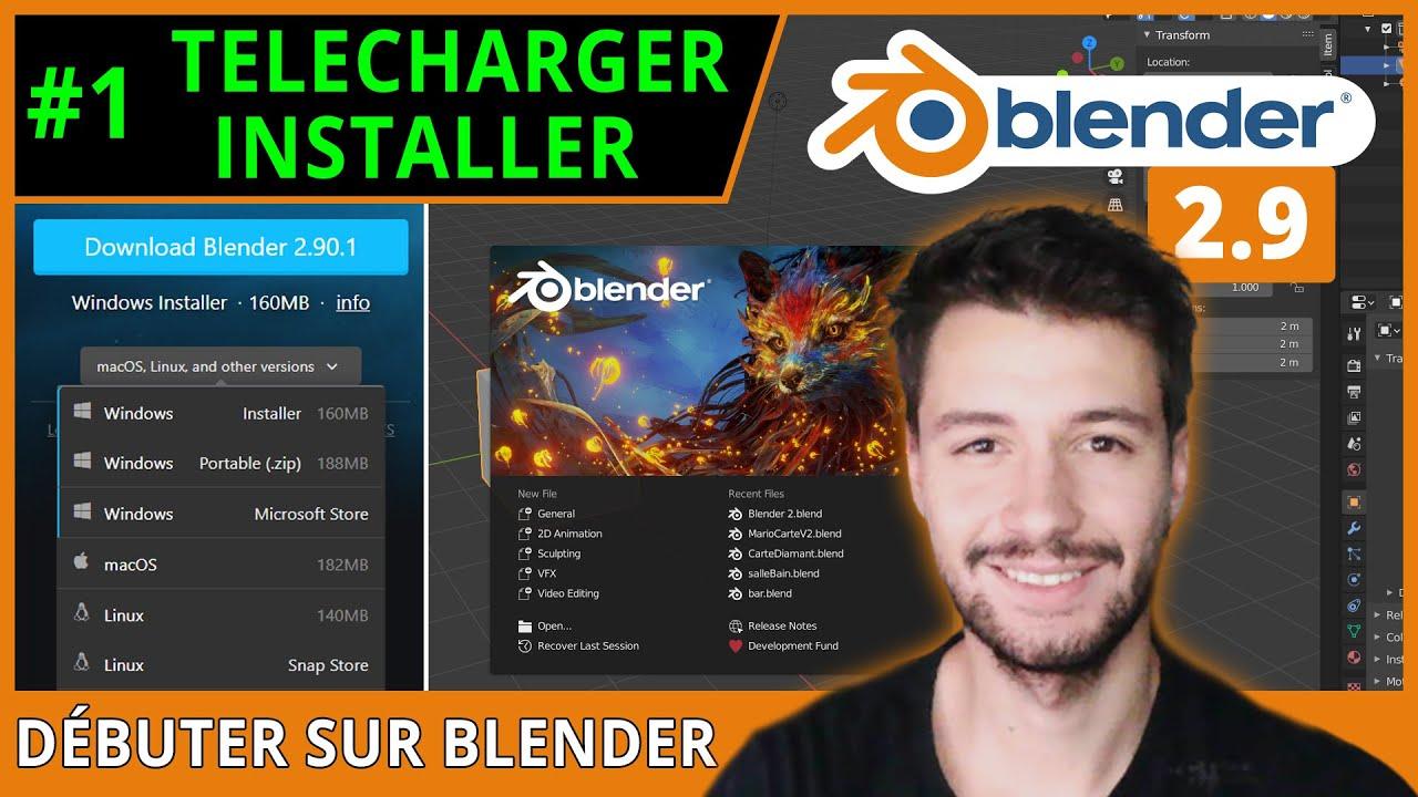 #1 | TELECHARGER ET INSTALLER LE LOGICIEL - Débuter sur Blender [TUTO FR]