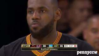 LeBron James ALL 5 Blocks on Stephen Curry in NBA Finals 2016 *Trash Talk