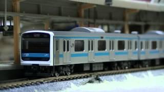 NゲージTOMIX京浜東北線209系0番台駅到着&発車!