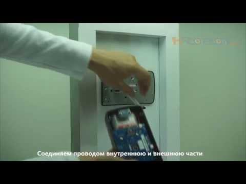 Установка накладного электронного дверного замка Samsung SHS-1321