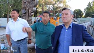 Аким Талдыкоргана Б. Карасаев совершил рабочий объезд города