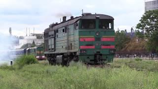 Тепловоз 3ТЭ10М-1104Б на ст. Кишинёв / 3TE10M-1104B at Chisinau station