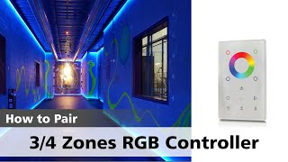 Watch how to pair a RGBW Multiple Zone Remote Controller with its Receiver