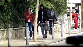 Download Video Messi walking streets of Barcelona with wife and son after PSG win | 2017 MP3 3GP MP4