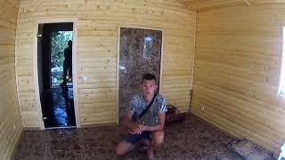 Проект бани с комнатой отдыха и террасой 4х6