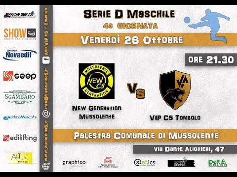 Preview video 4° GIORNATA: New Generation Mussolente - VIP c5 Tombolo 6-4