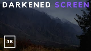 Gentle Rain in Mountains 4K, Sound of Rain with Darkened Screen for Sleep, Relaxing, Study, insomnia