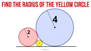 Can You Find the Radius of the Small Yellow Circle?   Step-by-Step Explanation
