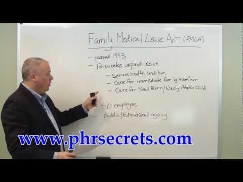 PHR Study Guide FMLA - YouTube