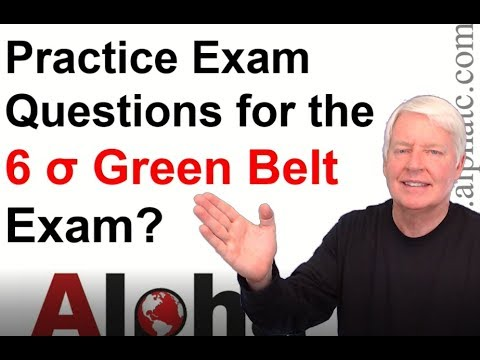 ASQ Six Sigma Green Belt Practice Exam (50% off online class ...