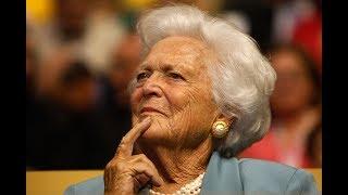 Barbara Bush lies in repose at St. Martin's Episcopal Church in Houston