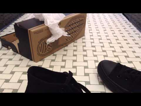 Converse All Star High Unboxing/Review (Black)