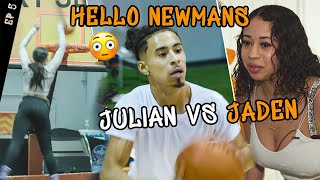 """Ready For The Overseas Move."" Jaden Newman DUNKS On Trampoline! Julian Newman SHOWS OFF In Workout!"