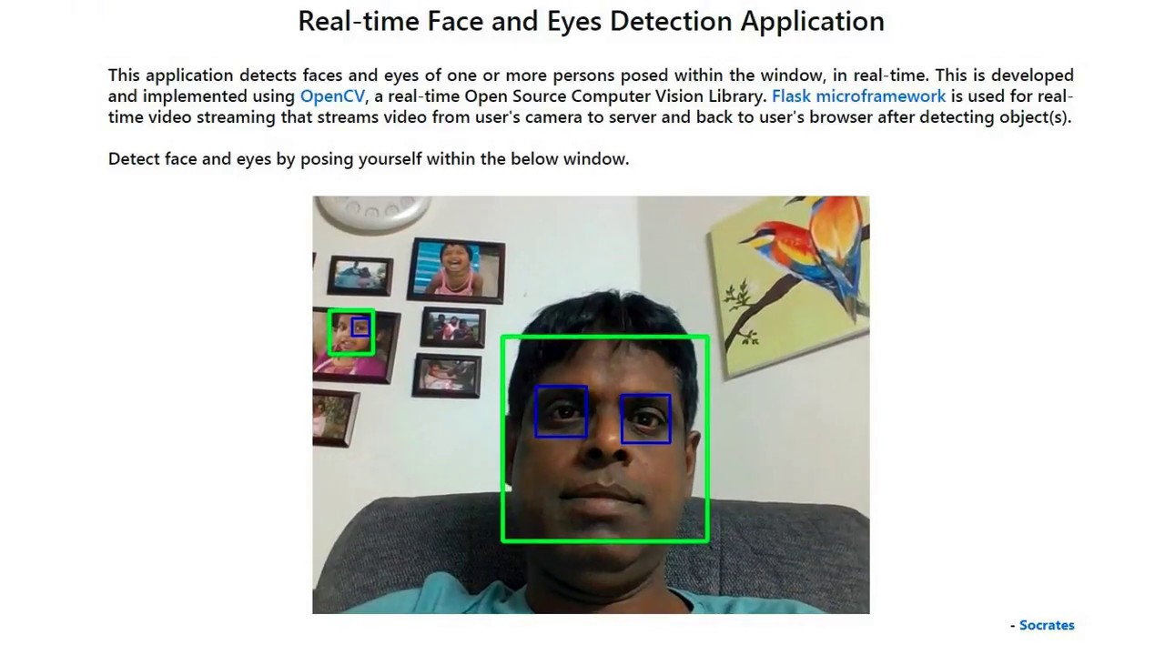 Face and Eyes Detector
