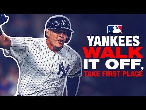 Yankees walk-it-off, take first place from Rays!