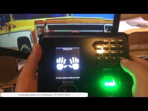 Zkteco mb 360 inscribir rostros y huellas en dispositivo