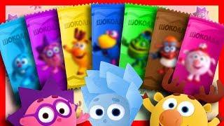 Мультики. Шоколадки для детей. Фиксики, Щенячий патруль, Лунтик, Смешарики, Вспыш. Учим цвета