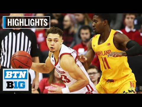 Highlights: Davison Comes up Clutch in Badger Win | Maryland at Wisconsin | Jan. 14, 2020