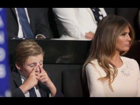 Barron Trump Yawns His Way Through Father's Speech