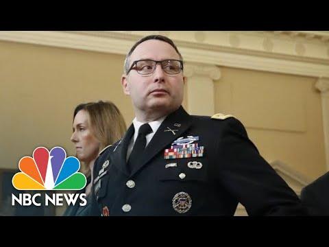 Vindman Defends Wearing Military Uniform After Attacks 'Marginalized' Him   NBC News