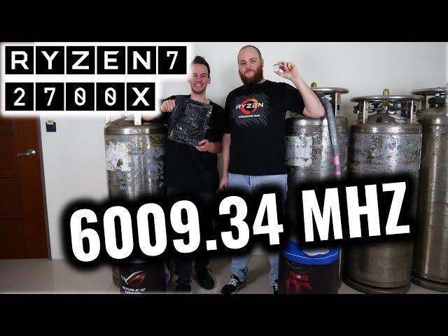 AMD Ryzen 7 2700X Overclocked To 6 GHz Across All Cores