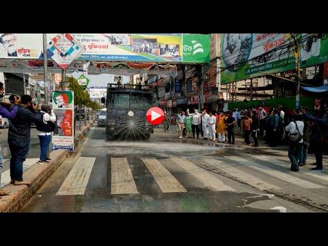 রাজশাহী নগরীতে ছিটানো হচ্ছে জীবানু নাশক স্প্রে