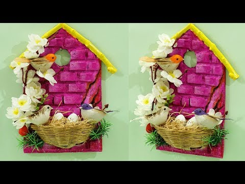 Beautiful DIY Home Decoration from Waste Materials | Birdhouse Wall Hanging | Recycling Crafts
