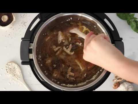 Romige Risotto met paddestoelen maken met je Instant Pot
