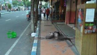 Terkapar di Trotoar Jalanan Bangkalan Madura, Pria Korban Pembacokan Dikira Korban Tabrak Lari